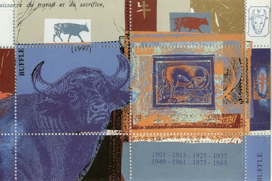 Artistamps Faux Postes Lunar New Year Of The Buffalo