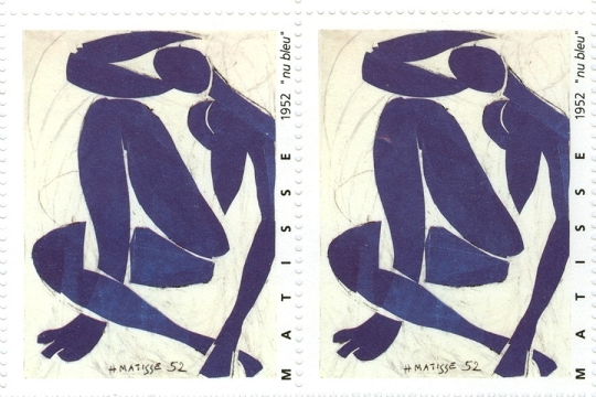 artistamps faux postes matisse nu bleu. Black Bedroom Furniture Sets. Home Design Ideas