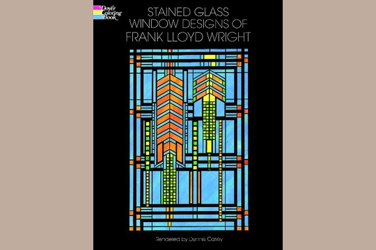 Frank lloyd wright stained glass coloring book for Frank lloyd wright coloring pages