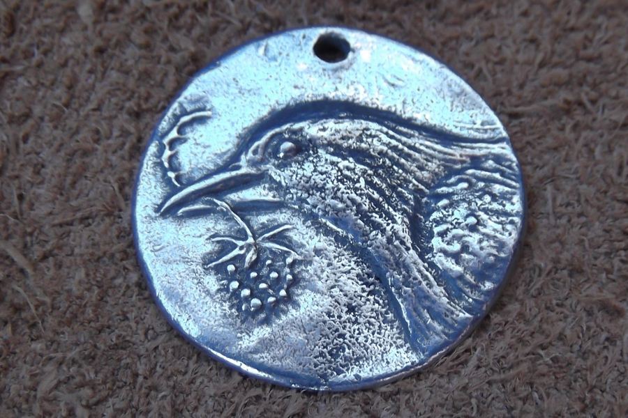 Hope Crow Or Raven Coin Charm