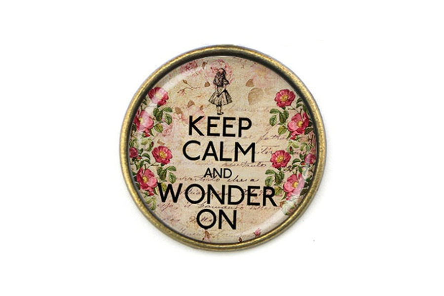 Keep Calm And Wonder On Pendant With Matching Chain
