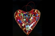 Large Handmade Heart Amulet for Luck and Love