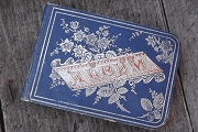 Vintage 1880s Autograph Album Filled with Writing and Drawings