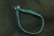 Hand Crafted Turquoise & Leather Bracelet