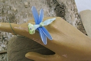 Vintage Chenille Dragonfly with Organdy Wings & Googly Eyes