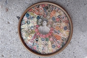 Vintage Cigar Band Collage in Round Frame
