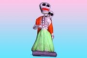 Day of the Dead Figure - Mother with Baby