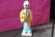 Day of the Dead Figure - Woman with a Flower