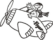 Ace Pilot Rubber Stamp