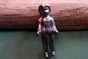 Hand Cast Silver-Tone Pewter Frozen Charlotte Doll