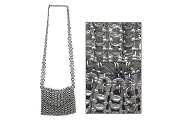 Recycled Chainmail Poptop Handbag - Large