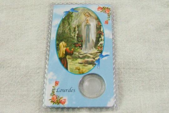 Laminated Our Lady Of Lourdes Amp Saint Bernadette Holy Card