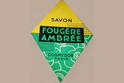 Vintage Savon Foug�re Ambr�e Label