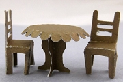 Tiny Paper Table and Chairs Set by Nanetta Maria