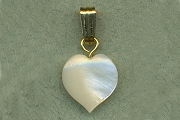 Mother of Pearl Heart Charm or Pendant