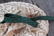 Vintage 1950's Swiss Green Straw Ribbon by the Inch