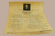 Reproduction Historical Document on Parchment - Edgar Allen Poe's Annabelle Lee