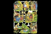 Reproduction Chromolithograph Embossed Die-Cut Reliefs - Hansel & Gretel
