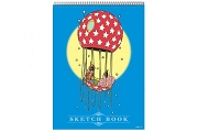 Nemo and the Princess in Balloon - Elegant Oversized Sketchbook
