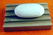 Wooden Soap Dish with Drainage Grooves