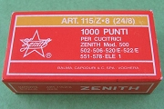 Zenith Art. 115/z8 Long-Leg Zinc-Coated Stainless Steel Staples