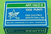 Zenith Art. 130/z6 Staples (Long-Leg Zinc-Coated Stainless Steel) - Box of 1,000