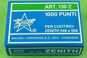 Zenith Art. 130/z Staples (Zinc-Coated Stainless Steel) - Box of 1,000