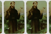 Shiny Metallic St Francis of Assisi Stickers