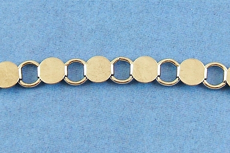 Silver Bracelet Blank with Glueable Pads