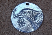 Hope... Crow or Raven Coin Charm