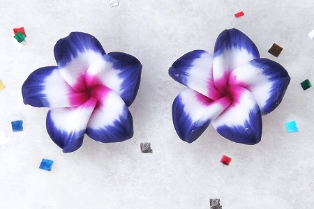 Pretty Blue and Pink Flower Component
