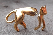 Vintage Clever Front and Back Cat Earrings