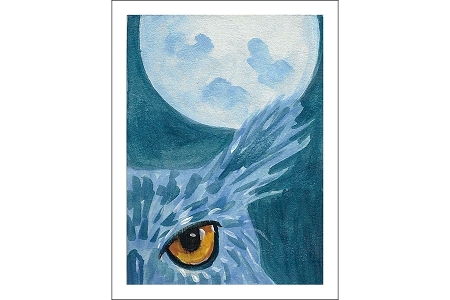 The Owl and the Moon Note Card