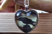 Crow Heart Necklace - Second Quality