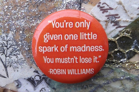 Button Pin - ... Spark of Madness ...