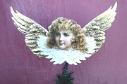 Angel with Golden Wings Sprial Tree Topper