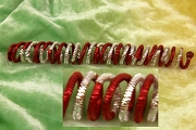 Red and Silver Spiral Krausbouillion Tinsel