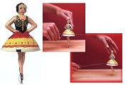 Old-Time Spinning Top - Carmen the Ballerina