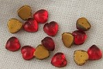 Vintage 7mm Siam Ruby Flat Backed Glass Heart