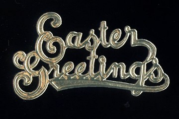 Package of 5 SMALL Golden Dresdens: Easter Greetings
