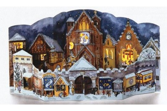 Cathedral Palace Hand Crafted Reproduction Advent Calendar