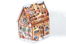 Large Glittered 3D Gingerbread Advent Calendar (Sample)