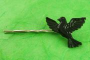 Blackbird Bobby Pin with Vintage Plastic Blackbird