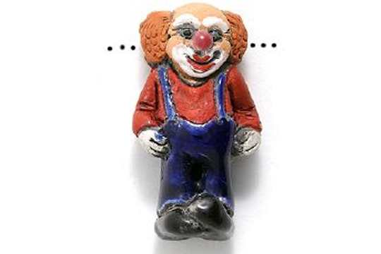 Ceramic Clown Bead