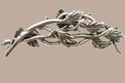 Silvery Branches and Leaves Brooch (Pin)