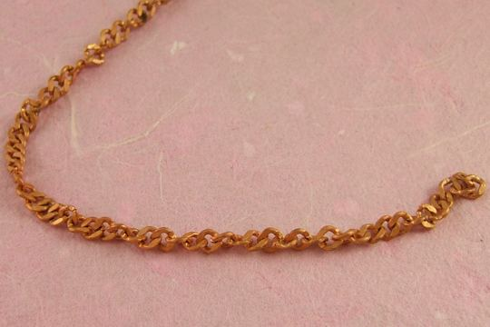 VINTAGE Copper Fancy Link Chain (4mm) by the Inch