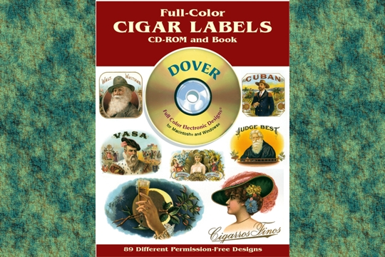 Full-Color Cigar Labels - Permission Free Images - CD-ROM & Book