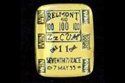 Vintage Glass Intaglio Cabochon - Belmont Race Ticket