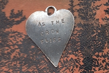 Sterling Silver Heart Charm  - As the Crow Flies