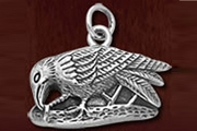Sterling Silver Perching Raven Charm